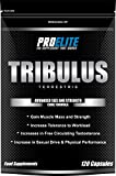 PROELITE Tribulus Terrestris 120 Capsules (95% Saponins Higher Strength) Increases Libido/Strength & Stamina/Promotes Natural Testosterone Production 100% Pure High Strength
