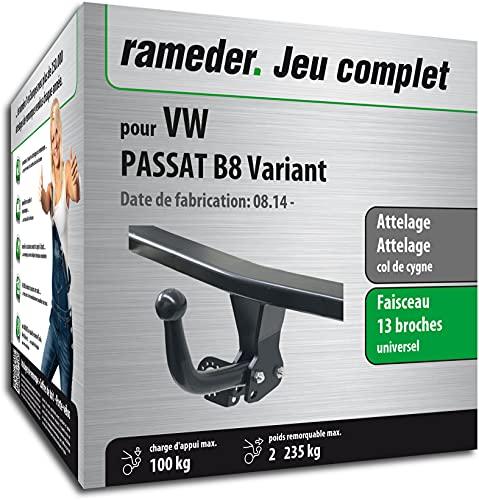 Rameder Pack, attelage démontable avec Outil + Faisceau 13 Broches Compatible avec VW Passat B8 Variant (163061-12918-1-FR).
