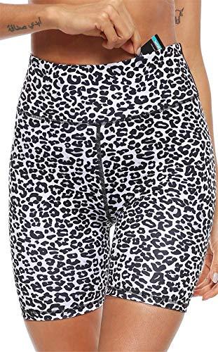 Femme Fitness Legging Taille Haute Yoga Pantalon Court Imprimé Shorts de Sport Elastique Collants de Course Workout Jogging M Dear-XiaoBao