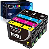 E-Z Ink (TM) Remanufactured Ink Cartridge Replacement for Epson 702XL T702XL 702 T702 to use with Workforce Pro WF-3720 WF-3730 WF-3733 Printer (1 Large Black, 1 Cyan, 1 Magenta, 1 Yellow, 4 Pack)
