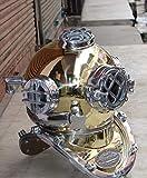 Vintage Silver Divers Casco de buceo US Navy 18 Mark V Deep Sea Réplica