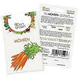 OwnGrown Premium Möhren Samen (lange rote stumpfe), Karotte Samen zum Anbauen, Möhren Saatgut für rund 850 Möhren Pflanzen