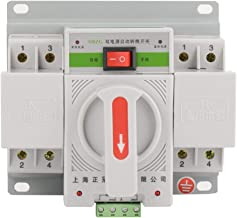 1PC 220V 63A 2P Mini Dual Power Toggle Controller Automatic Transfer Change-Over Switch Circuit Breaker