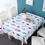 ggzgyz Jardín Mantel Impermeable de PVC Mantel de impresión de Dibujos Animados Mantel de Mesa Impermeable patrón de Cocina Mantel de Aceite Papel Pintado de Tela Anti-Hierro
