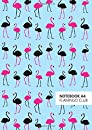 Flamingo Club Notebook - A4:  Blue Edition  Fun notebook 192 lined pages