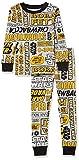 Amazon Essentials Disney Star Wars Marvel Snug-Fit Cotton Pajamas Sleepwear Sets Conjunto de Pijama, 2-Piece Yellow Comic, 9-10 años