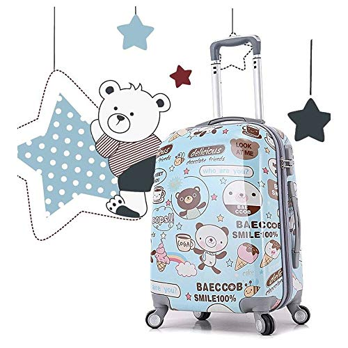 Ange-Y Cartoon mirror PC universal wheel luggage box female bag trolley case 20 inch 24 inch trend suitcase student bag waterproof,wear-resistant,anti-theft,shipping box