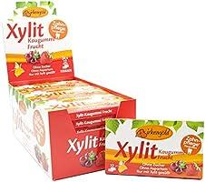 Birkengold xylitol kauwgom vrucht   24 st. blister   verzorgingskauwgom   suikervrij   hoog xylitolgehalte 70 %  ...