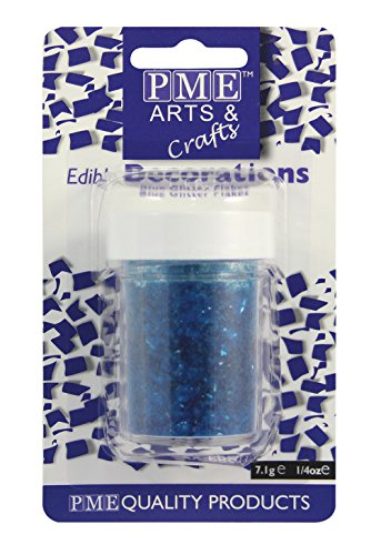 PME Glitzerflocken - Blau, 7 g