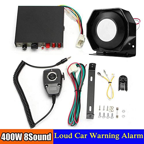 Affordable 400W 8 Sound Loud Car Warning Alarm P Olice Fire S Iren Horn PA Speaker MIC System