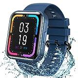 KOSPET Smartwatch, orologio da polso con monitoraggio della pressione sanguigna, monitoraggio del sonno, impermeabilità IP68, con contapassi, cronometro, smart watch per uomo e donna