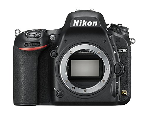 Nikon D750 Vollformat Digital SLR Kamera (24,3 MP, Full-HD Video, EXPEED 4-Prozessor, 3,2 Zoll/8 cm neigbarer Monitor mit 321.000 Bildpunkten, WiFi)
