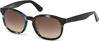 Plastic Frame Brown Lens Unisex Sunglasses DL01905255F