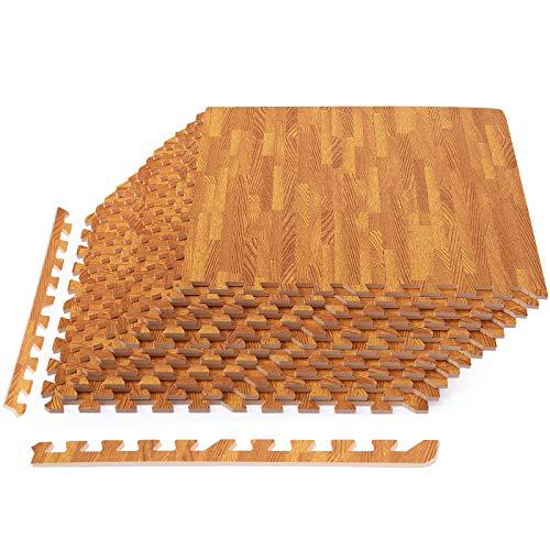Tangkula 52 Sq 12 Pcs EVA Foam Floor Mats with Border, 3/8