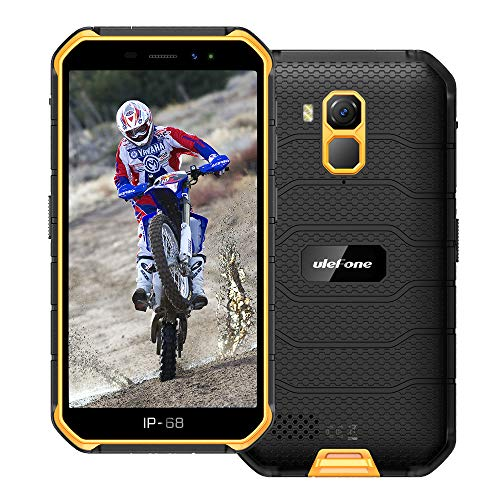 Ulefone Armor X7 PRO (2020) 4G Android 10 Outdoor Handy Smartphones, 32GB Speicher 4GB RAM 4000mAh Akku Smart Button wasserdichte Kamera, WiFi GPS FM Orange