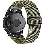 OTOPO Compatible con Fenix 5X/5X Plus/6X/6XPro pulsera para hombre, elástico, ajustable, elegante, de nailon elástico, para Garmin Fenix 5X/5X Plus/6X Pro,