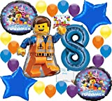 Lego Movie 2 Deluxe Balloon Decoration Bundle for (8th Birthday)