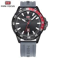QTMIAO 美しいmini focus時計 MINI FOCUS / MF0020Gクォーツ腕時計スポーツ腕時計シリコンベルトメンズウォッチ (Color : 2)