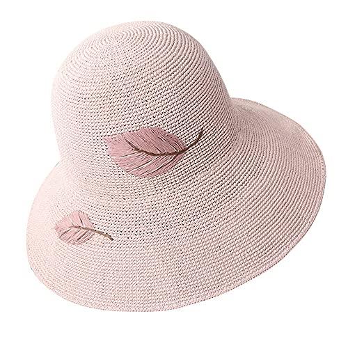 Sombrero de Santa Unisex Santa Sombrero de paja de mujer sombrero de sombrero transpirable sol sombrero de sol señoras de pescador al aire libre protección UV Protección Sombrero de verano Fedora Tril