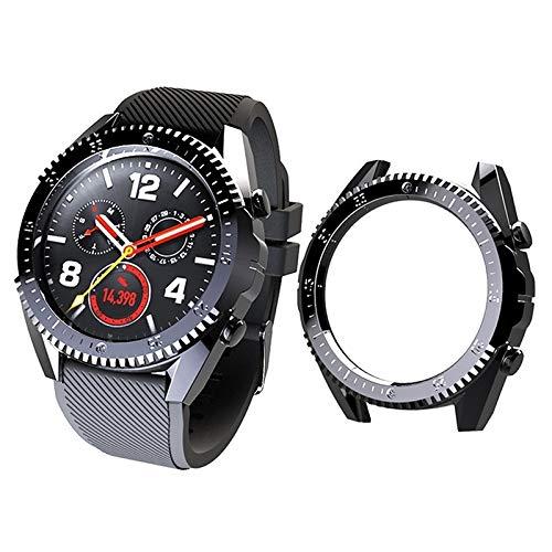 FBMXQ Housse de Protection Screen Protector Case for Huawei GT 46mm PC Placage de Protection (Noir) (Color : Black)