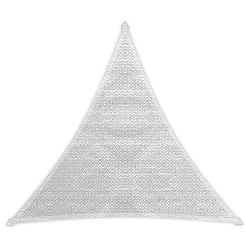 Windhager 10975 - Vela de sombra para patio (3.6 x 3.6 x 3.6 m), color blanco/ beige