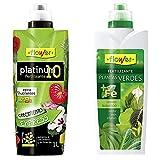Flower Abono Liquido Platinum-10 1L, Único + Abono Liquido Planta Verde 1L, Único