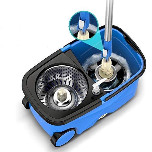 Spin Mop Magia dubbele drive van roestvrij staal met rotatiedruk met kop voor huishoudelijk gebruik, voor het reinigen van de vloer