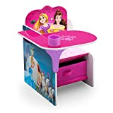 Delta Children Chair Desk with Storage Bin - Ideal for Arts & Crafts, Snack Time, Homeschooling, Homework & More, Disney Princess