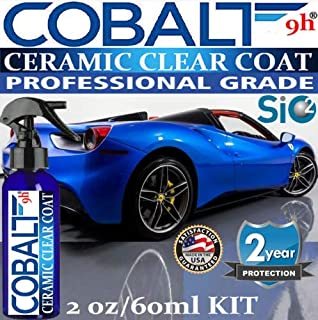 Ceramic CAR Coating True Nano 9H Scratch Resistant Paint Protection Cobalt 9H Ceramic Spray 2oz/60ml KIT
