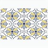 Alfombra de baño Lisboa Portugal tradicional Azulejos inspirado en patrones sin fisuras Texturas abstractas geométricas Enrejado Alfombras de baño de felpa decorativas Alfombras Decoración Felpudo Res