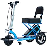 Triaxe Sport Foldable Scooter - Color Metallic Light Blue - 13' Seat Width