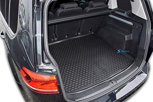 J&J AUTOMOTIVE Premium Antirutsch Gummi-Kofferraumwanne für Touran ab 09/2015 hohes Rand