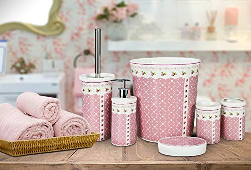Almina New Bone Bad | WC-set | roze | 6-delig