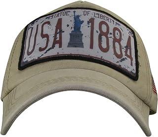 MINAKOLIFE Men Women Washed Cotton Vintage USA Flag Low Profile Summer Baseball Cap Hat