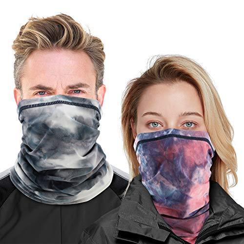 MoKo Winter Neck Gaiter Face Mask Women Men, 2 Pack Warmer Bandana UV...