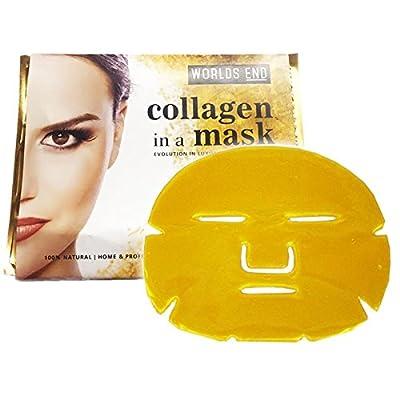 5 x Premium Gold Bio Collagen Crystal Face Mask, Anti ageing Skin Care