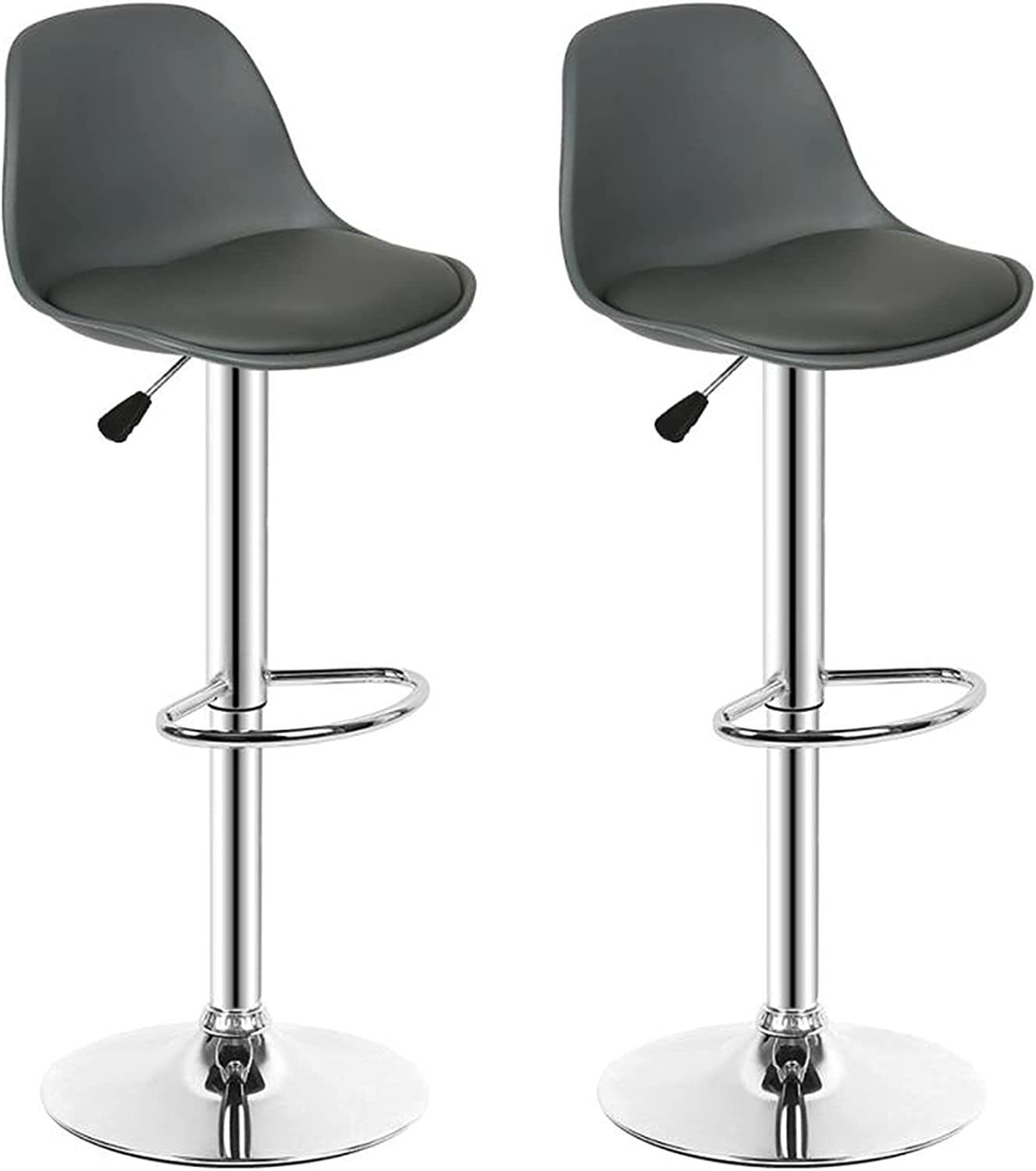 HuaTeus Bar Chairs Max 90% OFF Modern PU with Stools Leather Adjustable Max 53% OFF