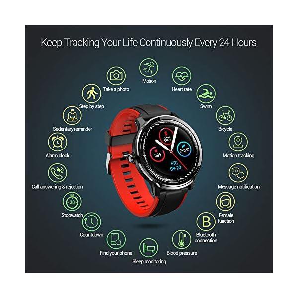 SmartWatch,Reloj Inteligente Impermeable IP68,Bluetooth Relojes Deportivos Pantalla t¨¢ctil completa para monitor… 6