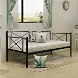NA2 Metal Daybed Twin Bed Frame Stable Steel Slats Sofa Bed