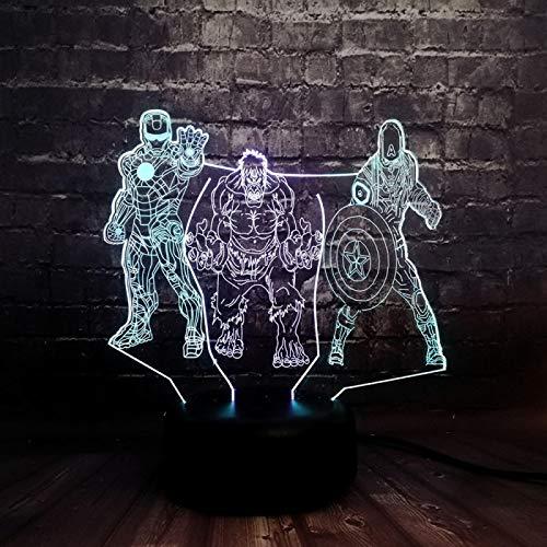 WisdomMi lámpara de noche dormitorio barata, 3D 16 colores - de reloj...