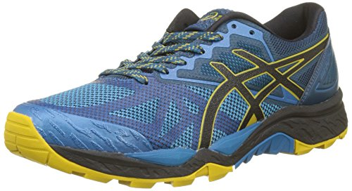 Asics Gel-Fujitrabuco 6, Zapatillas de Running para Hombre, Multicolor (Turkish Tile/Black/Lemon Curry 4690), 44.5 EU