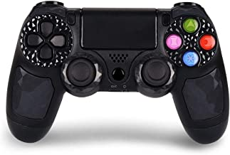 CHENGDAO PS4 Controller Wireless Dual Shock 4 Bluetooth Gaming Controller for Playstation 4 Remote Controller with Led Bar, Micro USB, Multi-Touch Clickable Touch Pad - Black