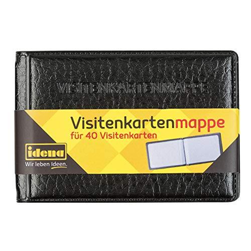Idena 11339 - Visitenkartenmappe, für 40 Karten, 10x7 cm, 1 Stück