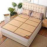 DFJU Colchón de bambú Colchón de bambú Fresco Estera de bambú se Puede Plegar Colchonetas Frescas para Dormir, 135X190cm