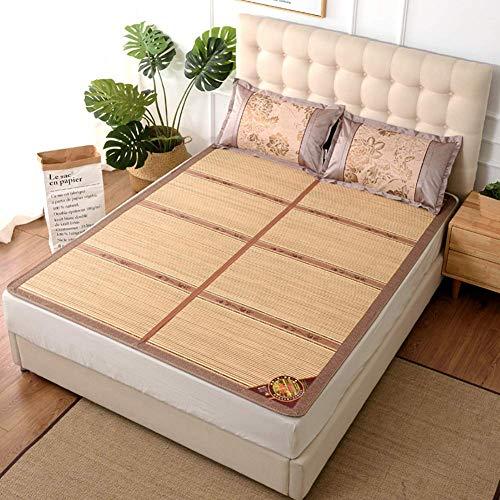FGDSA Colchón de bambú Colchón de bambú Fresco Estera de bambú se Puede Plegar Colchonetas Frescas para Dormir, 135X190cm