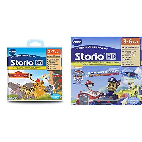 VTech - 275205 - Jeu HD Storio - La Garde du Roi Lion & 274105 - Jeu pour Tablette - HD Storio - Pat Patrouille