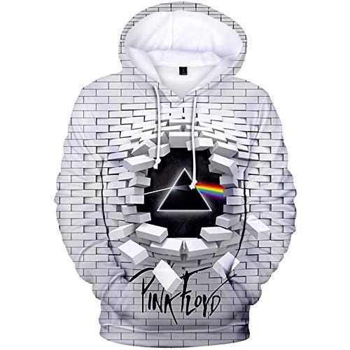 HEY XQ Maschile Felpa È Cantante Pink Floyd Elemento,3D Printed Graphic Moda Tasca Frontale A Canguro Felpa,Unisex Accogliente Poliestere Baseball Felpa,T-Shirt M-XXL,H1,L