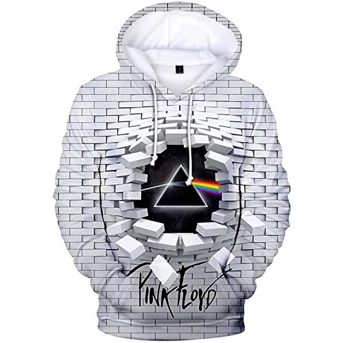 Pink Floyd Pullover Hoodie T-Shirts Sweatshirt 3D-Druck Polyester Perfekt für Damen Herren Fans,H1,M