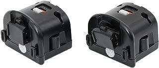 SogYupk Wii Motion Plus Adapter for Original Nintendo Wii Remote Controller(Black,Set of 2)