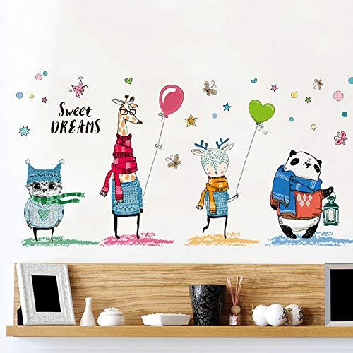 Gudojk muurstickers, felicitatie, partner, dieren, wandstickers, uilen, giraffe, panda, ballon, vlinder, decoratie, wandstickers, balkon, doe-het-zelf decoratie, woonkamerdecoratie
